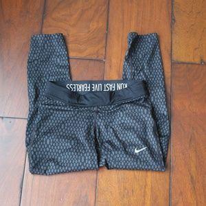 NIKE Dri-Fit Running Pants Capri Length Women's XS